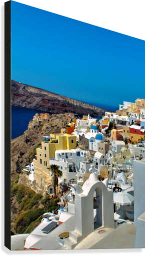 Santorini Colourful  Landscape - Greece  Canvas Print