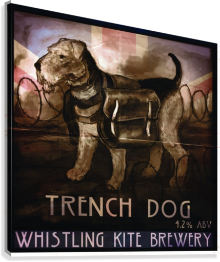 Whistling Kite Brewery: Trench Dog  Canvas Print