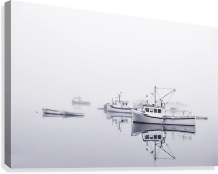 New Brunswick  Boats in the Mist