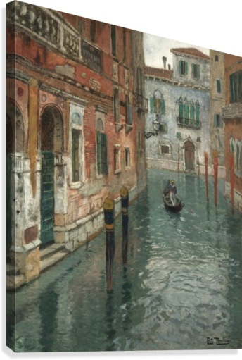 Along the canal in Venice  Canvas Print