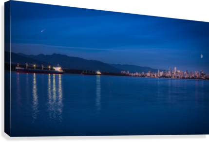 Shooting Star over Vancouver  Canvas Print
