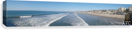 Oceanside CA Panorama  Canvas Print