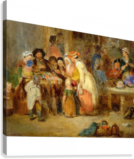 Antique oil painting  Canvas Print
