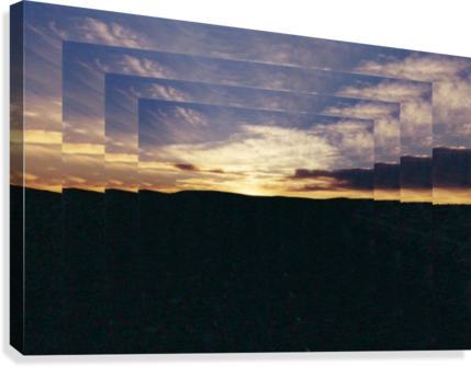 A  Manipulated Sunset  Canvas Print