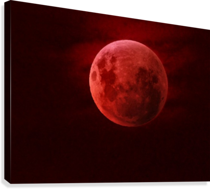 One Red Moon  Canvas Print