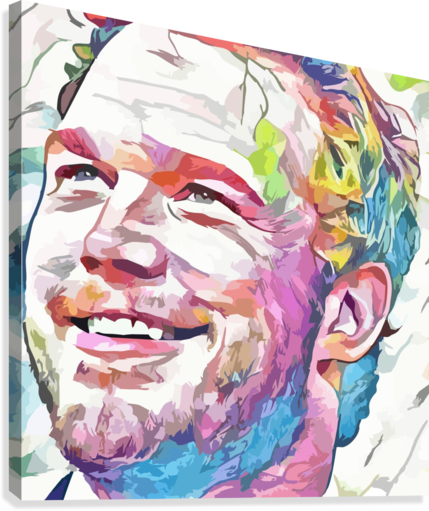 Chris Pratt - Celebrity Abstract Art  Canvas Print