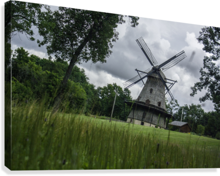 Windmill in a Storm  Canvas Print