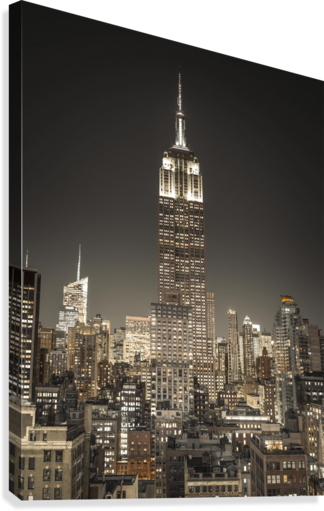 Empire State Building with New York City Manhattan skyline with skyscrapers  Canvas Print