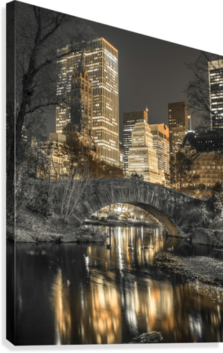 Evening view of Central Park in New York City  Impression sur toile