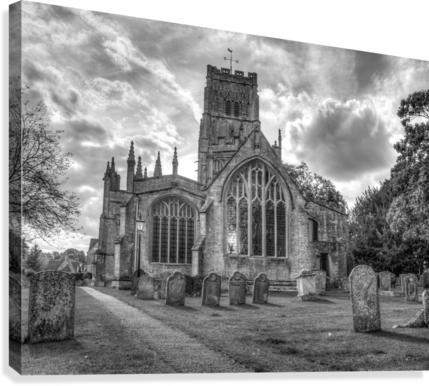 Old church in Northleach town, Cotswolds, UK  Canvas Print