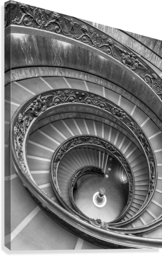 Spiral staircase at the Vatican museum, Rome, Italy  Canvas Print
