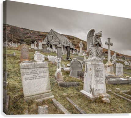 Cemetery in Llandudno, North Wales  Canvas Print