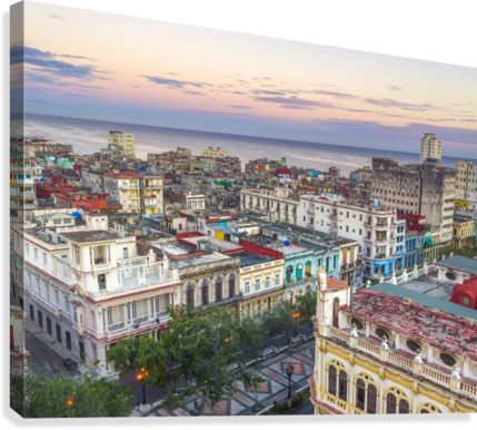 Havana from above  Canvas Print