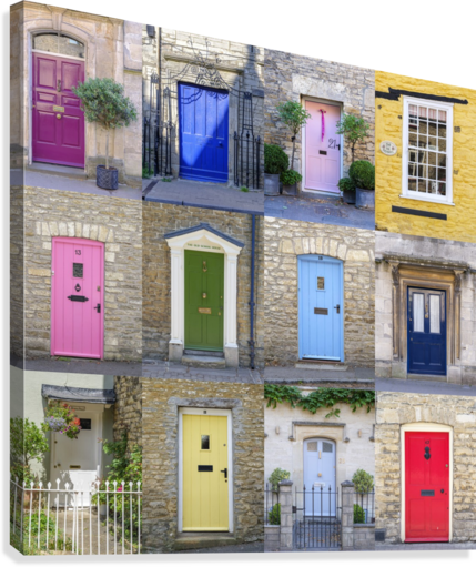 Collage of old doors, Cotswold, UK  Canvas Print