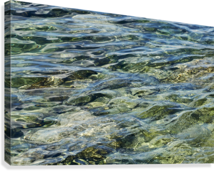 Close up of water on shore of slovenian resort town Piran Slovenia  Canvas Print
