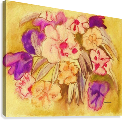 Floral pansies  Canvas Print