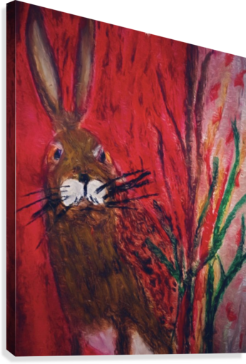 Red Rabbit  Canvas Print