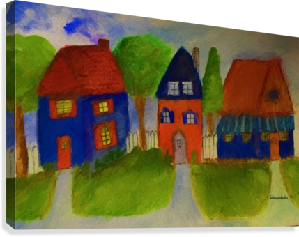 Whimsical Houses  Canvas Print