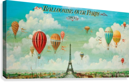 Ballooning over Paris  Canvas Print