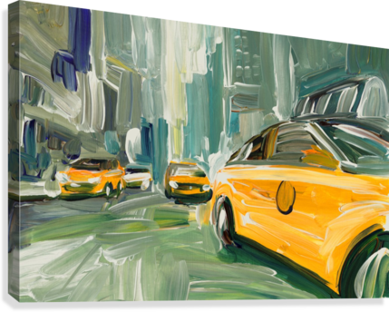 Yellow Cabs   Canvas Print
