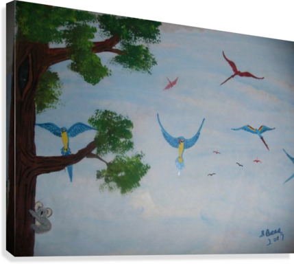 Macaw family  Canvas Print