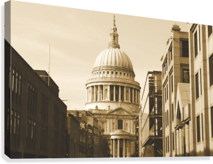 London - St  Pauls Cathedral  Canvas Print