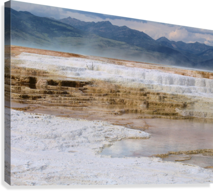 Mammoth Hot Springs part 2 Yellowstone National Park  Canvas Print
