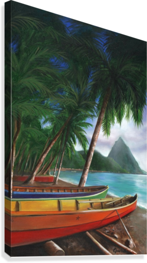 ST. LUCIA BILL GIMBEL  Canvas Print