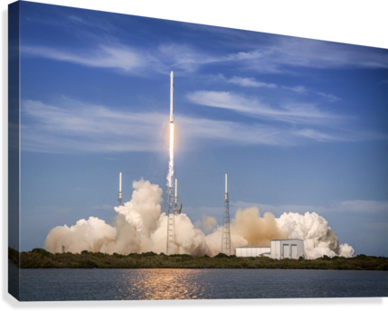 Falcon 9 Lifts Off from Space Launch Complex 40  Canvas Print