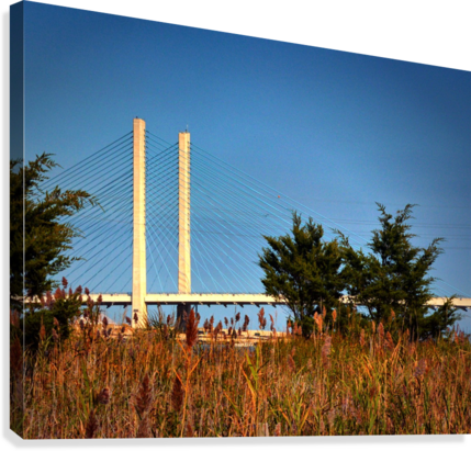 Indian River Bridge Stanchions Standing Tall  Canvas Print