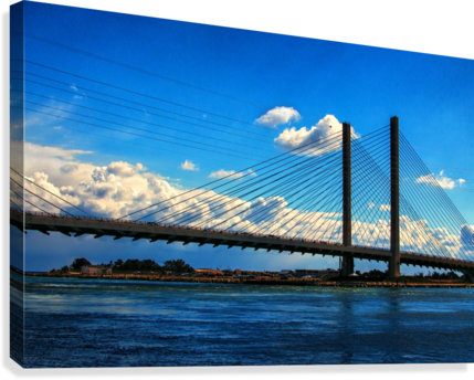 South Stanchions of the Indian River Inlet Bridge  Canvas Print