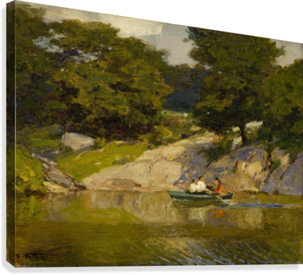 Boating in Central Park  Canvas Print