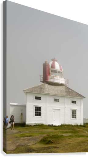 Original Cape Spear Lightkeepers house and light tower built in 1836 2  Canvas Print