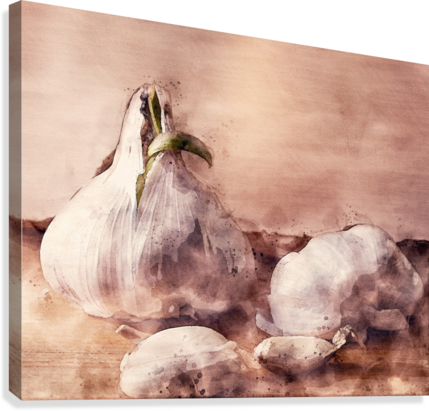 Garlic In The Kitchen  Canvas Print