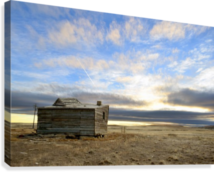 Ghost Town House  Canvas Print
