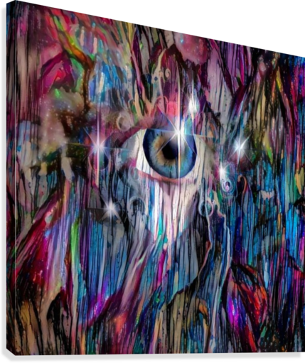Eye in Colorful Space  Canvas Print