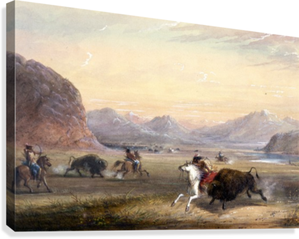 Buffalo Hunting, near Independence Rock  Canvas Print