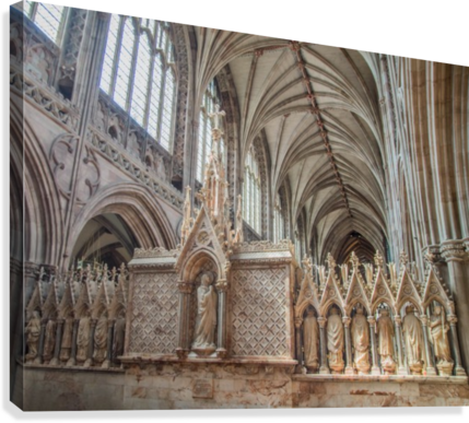 Litchfield Cathedral 3  Canvas Print