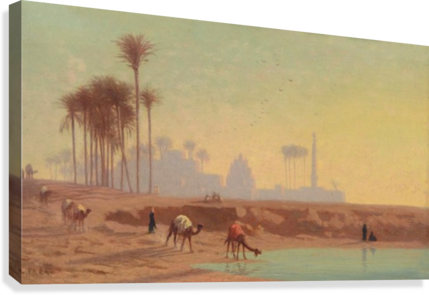 Caravan to the oasis  Canvas Print