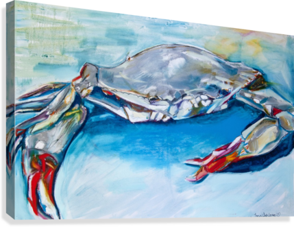 LOUISIANA SHE SOFT SHELL CRAB CAROLINE YOUNGBLOOD  Canvas Print