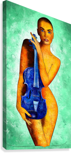 Bellaseussa - beauty with violin  Canvas Print