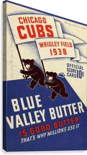1938 Chicago Cubs Program Cover  Canvas Print
