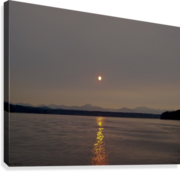 Setting Orb in view  Canvas Print