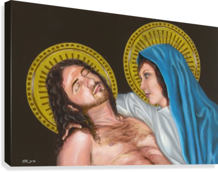 PIETA CIERRA ROSE DESIGNS  Canvas Print