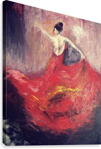 DANCER IN RED  CLARA  Canvas Print