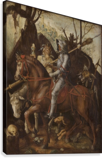 A Knight, Death, and the Devil  Canvas Print