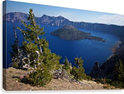 Crater Lake Scenic Aug, 2015  Canvas Print