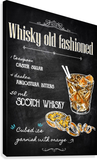 Whisky old fashioned  Canvas Print