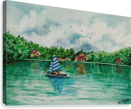 Naini lake_DKS  Canvas Print