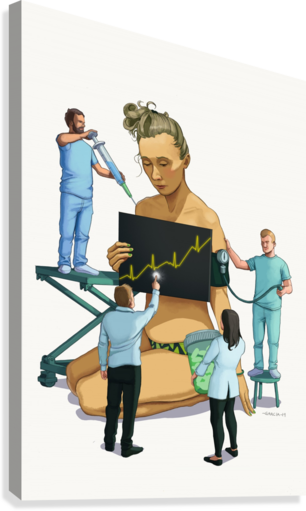 Healthcare is a Business  Canvas Print